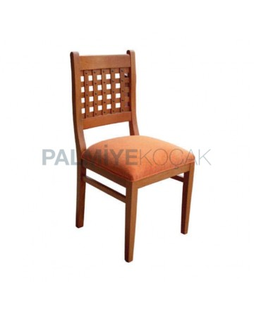 Orange Fabric Antique Painted Cafe Restaurant Hotel Chair