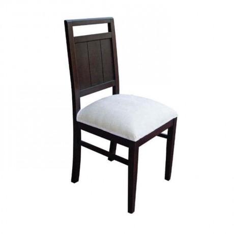 Venge Boyalı Beyaz Kumaşlı Rustik Sandalye - rsa24