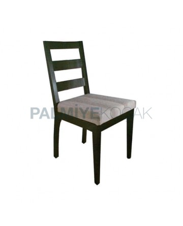Venge Painted Striped Fabric Restaurant Chair