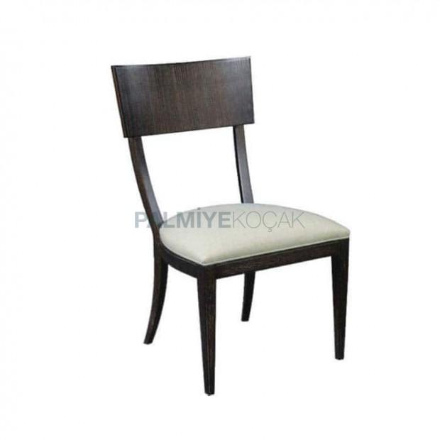 Venge Boyalı Deri Kaplı Cafe Restoran Sandalyesi