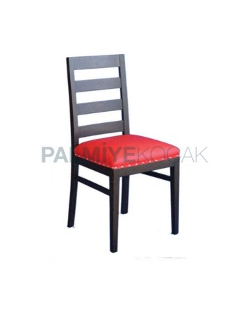 Venge Painted Red Leather Restaurant Chair