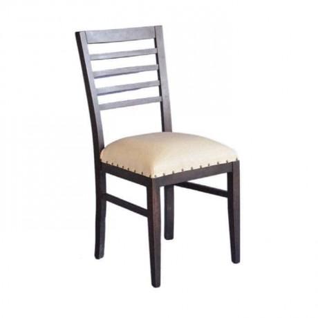 Venge Cilalı Krem Döşemeli Ahşap Rustik Sandalye - rsa45