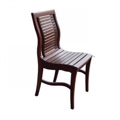 Yatay Çıtalı Rustik Ahşap Restoran Sandalyesi - rsa13