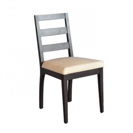 Yatay Çıtalı Siyah Boyalı Restaurant sandalyesi - rsa11