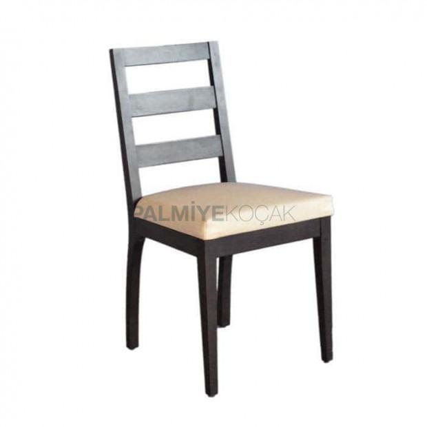 Yatay Çıtalı Siyah Boyalı Restaurant sandalyesi