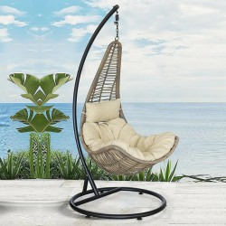 Plastic Rattan Braided Single Person Swinging Hanger