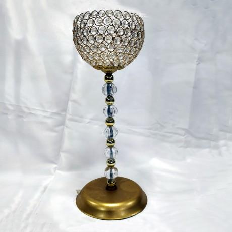 Altın Taş Süslemeli Şamdan 1. Kalite - smd07