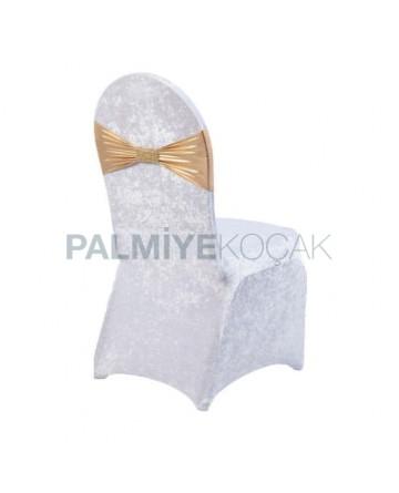 Golden Yellow Belted Velvet Chair Dressing