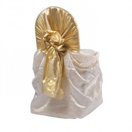 White Satin Organza Chair Dress Up - gso311