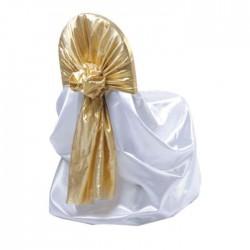 Gold Organza Metal Chair Dressing