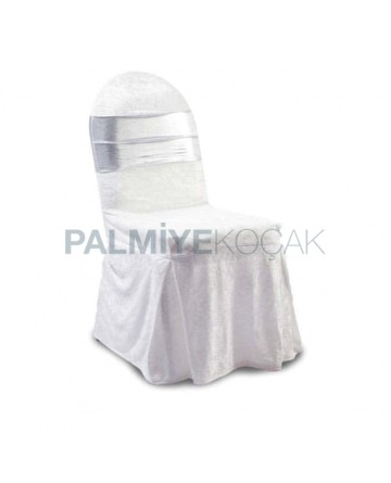 Gray Organza White Chair Dressing