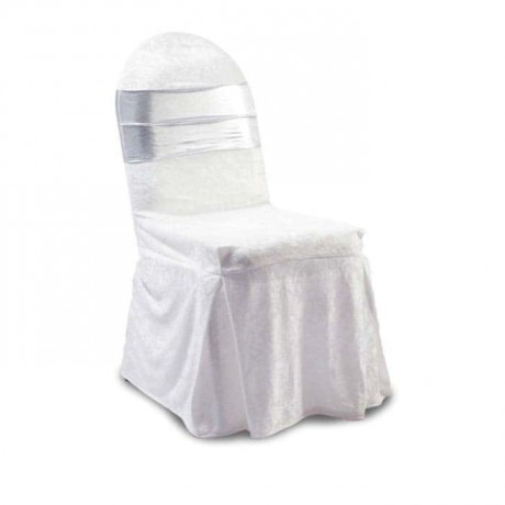 Gray Organza White Chair Dressing - gso316