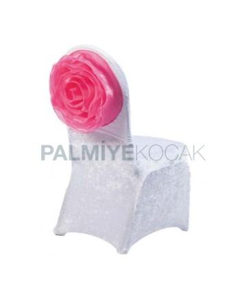 Rose Organza Velvet Chair Dress Up
