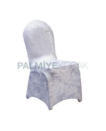 Kadife Kumaşlı Pabuçlu Sandalye Giydirme