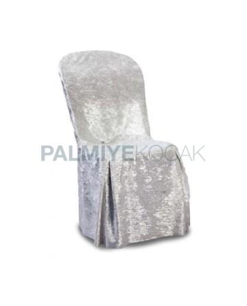 Kadife Plastik Sandalye Örtüsü Giydirmesi