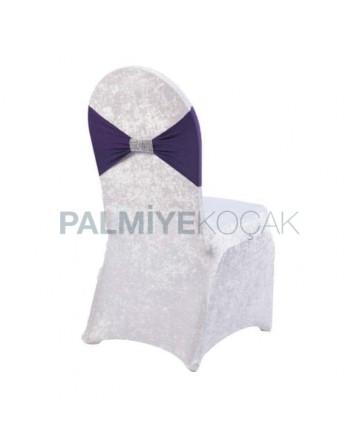 Purple Belted Velvet Chair Dressing