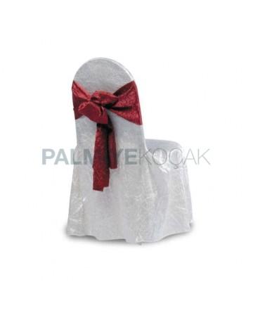 Satin White Fabric Chair Dressing