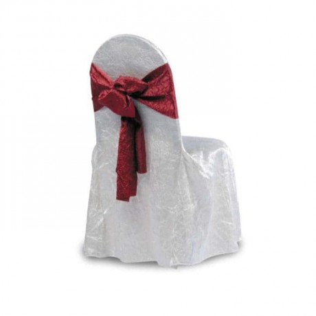 Satin White Fabric Chair Dressing - gso301