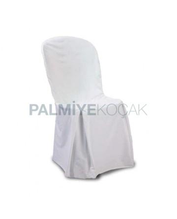 Satin White Plastic Chair Cover
