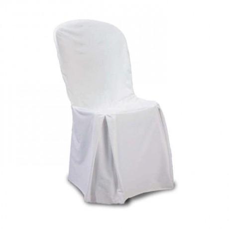 Saten Beyaz Plastik Sandalye Örtüsü - gso305