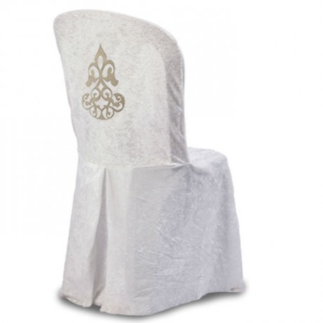 White Stretch Patterned Back Chair Dress - gso315