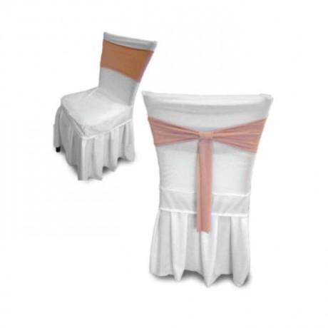 Stretch White Fabric Chair - gso312