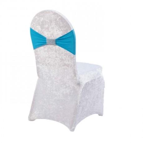 Turkuaz Kuşaklı Taşlı Sandalye Giydirme - gso321