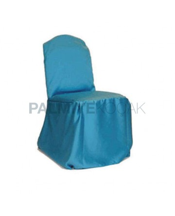 Turquoise Satin Fabric Chair Dressing