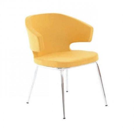 Sarı Deri Döşemeli Kollu Poliüretan Sandalye - psd221