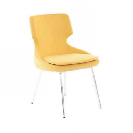 Sarı Derili Krom Ayaklı Poliüretan Sandalye - psd220