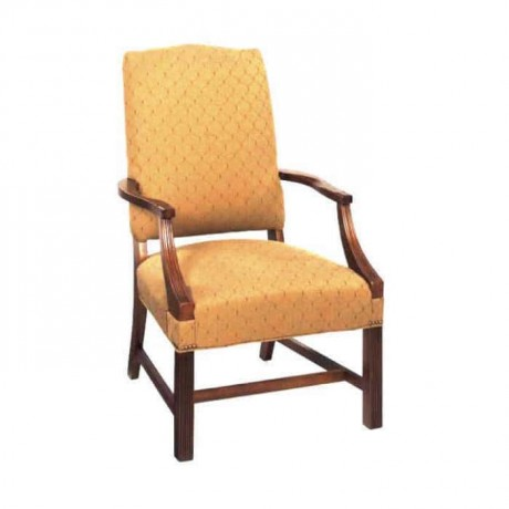 Yellow Fabric Painted Armchair - rsak12