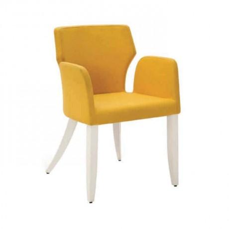 Sarı Kumaşlı Kollu Poliüretan Cafe Sandalyesi - psa639
