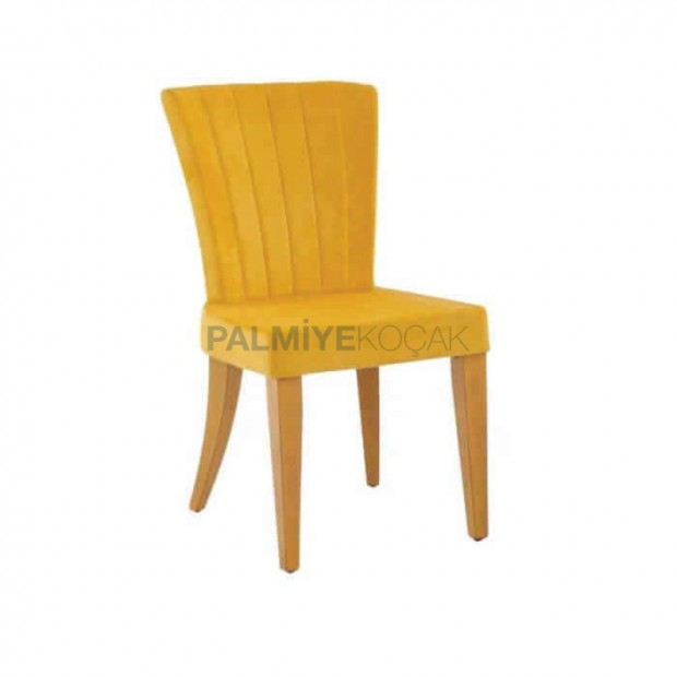 Yellow Fabric Yellow Painted Polyurethane Chair