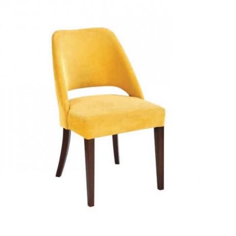 Yellow Fabric Ridge Open Back Chair - psa634