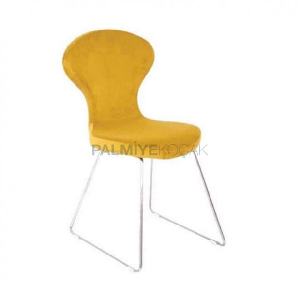Sarı Poliüretan Cafe Sandalyesi