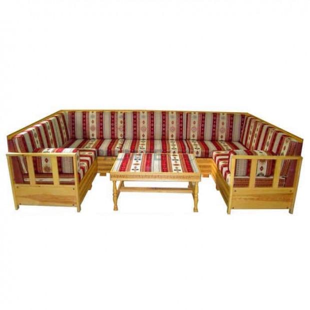 Rug Patterned Design Classic Spruce Beech Hornbeamn Wooden Oriental Booths