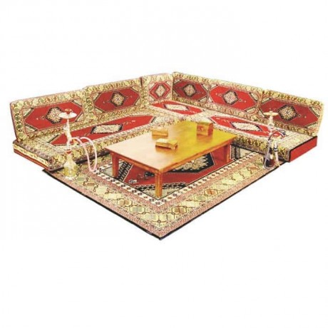 Classic  Orientated Design Patterned Cushion Seating Corner Booths