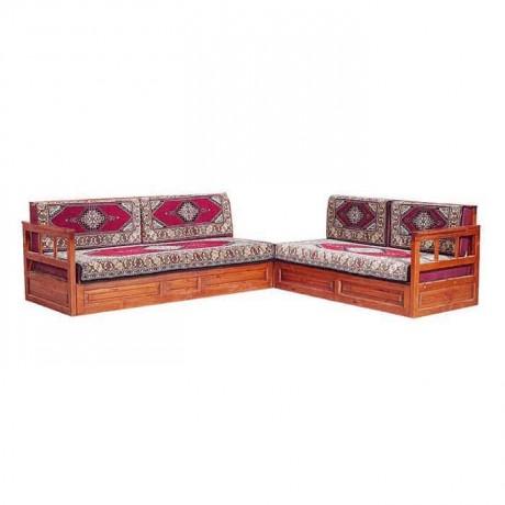 Wooden Walnut Colored Ottoman Oriental Booths
