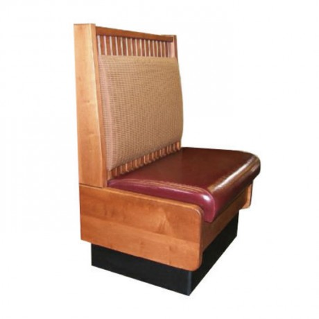 Wooden Painted Leather Upholstered Restaurant Couch - sed97