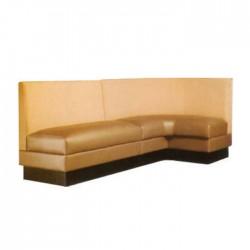 Beige Leather Upholstered Corner Loca