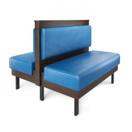 Çift Taraflı Mavi Döşemeli Klasik Sedir Koltuk - sed156