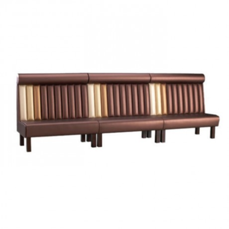 Brown Leather Sliced Booths - sed111