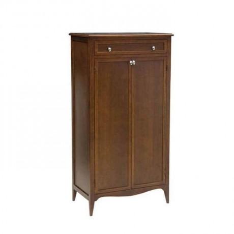 Wooden Walnut Painted Long High Service Cabinet - ser4016