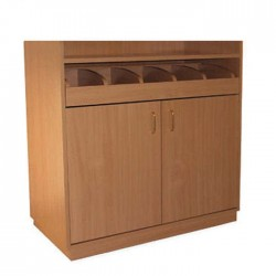 Beech Mdflam With Dash Service Cabinet