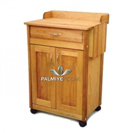 Massive Pan Oak Polished Service Cabinet - ser4023