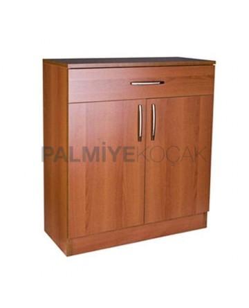 Mdflam Walnut Restaurant Service Cabinet