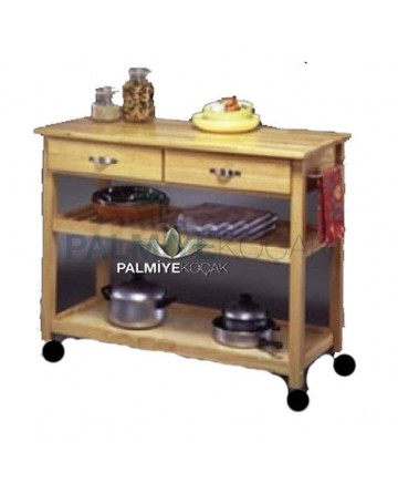 Wheel Wooden Oak Service Cabinet