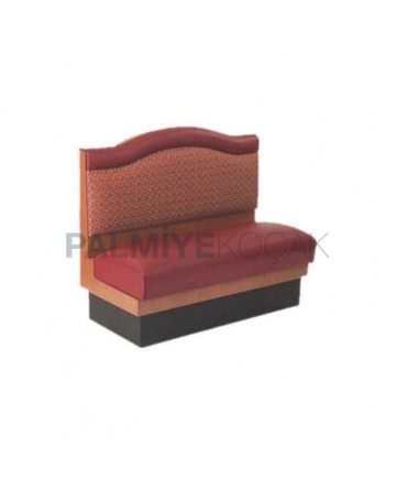 Patterned Back Leather Upholstered Booths