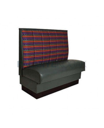 Pattern Back Fabric Upholstered
