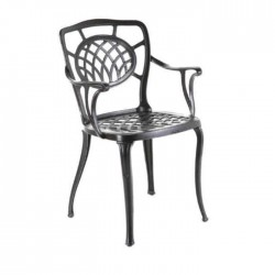 Black Painted Arm Casting Chair